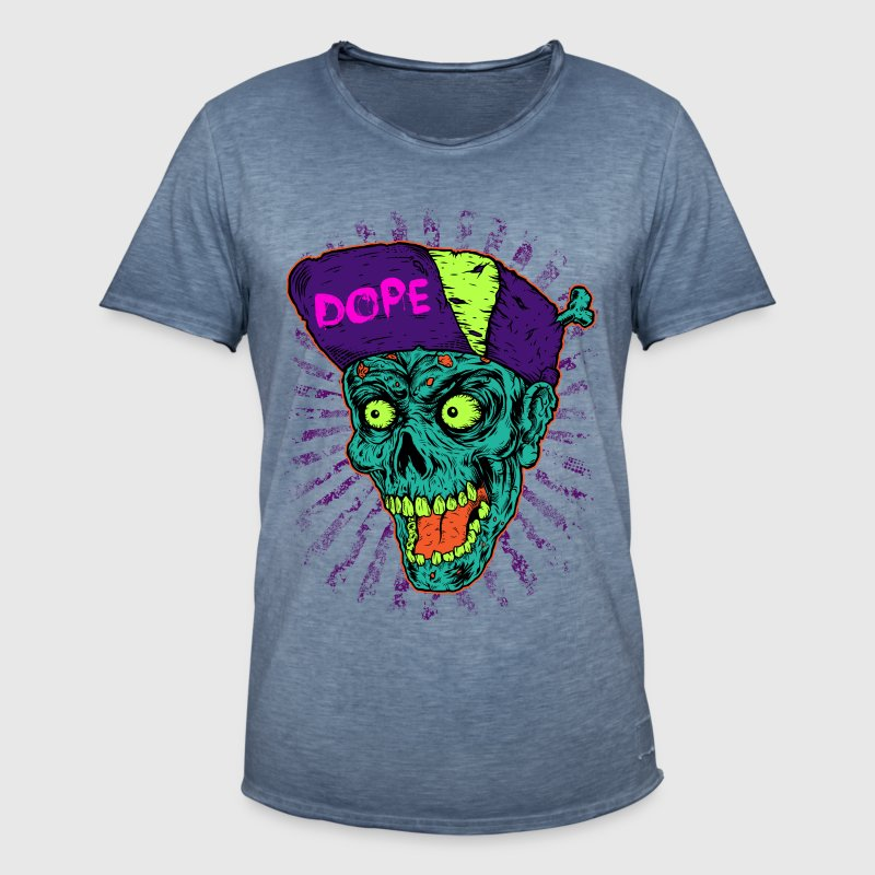 Music in pop style Dope Monster Skull T-Shirt - Men's Vintage T-Shirt