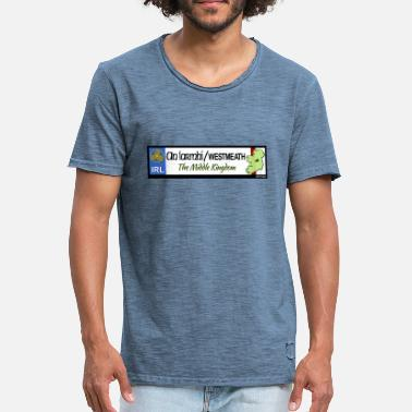 Decals WESTMEATH, IRELAND: licence plate tag style decal - Men's Vintage T-Shirt