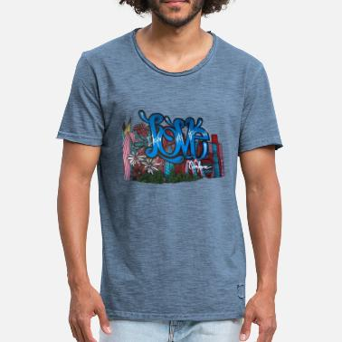 Graffiti Power Love Flower Power Graffiti - Camiseta vintage hombre