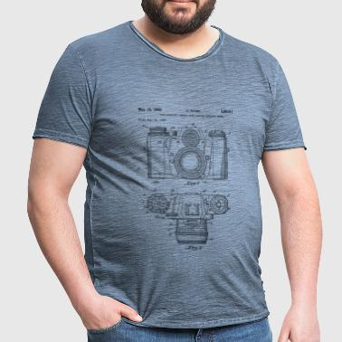 Vintage camera - drawing of an old camera - Camiseta vintage hombre