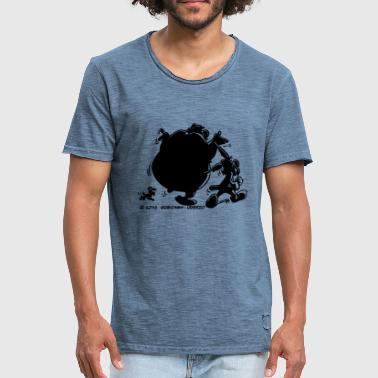 Asterix And Obelix Shadow - Mannen Vintage T-shirt
