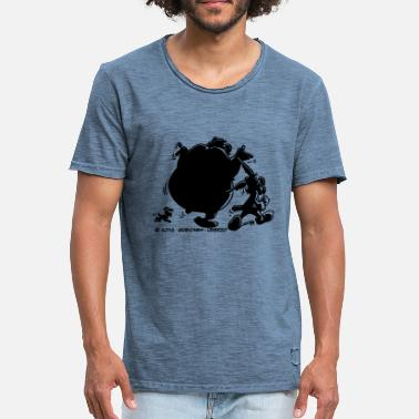 Asterix And Obelix Shadow - Vintage-T-skjorte for menn