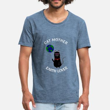 Mamamotiv KATMORENS DAG EARTH DAY HIPPIE ECO GIFT EARTH - Herre vintage T-shirt