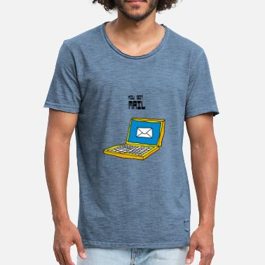 Email Vous avez un email portable email email email notebook - T-shirt vintage Homme