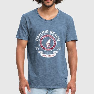 Hayling Beach Mens Retro Tee - Men's Vintage T-Shirt