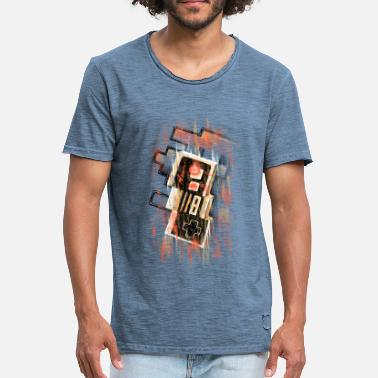 Gaming Blurry NES - Männer Vintage T-Shirt