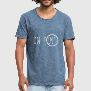 op Point - Mannen Vintage T-shirt