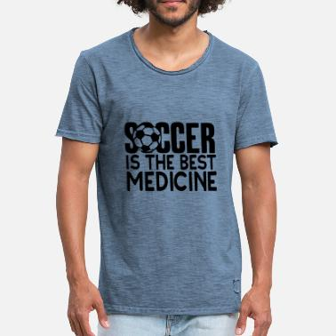 Foot Citation citation soccer is the best medicine foot - T-shirt vintage Homme