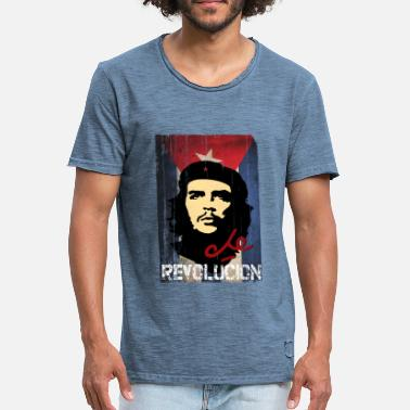 Che Che Guevara Cuban Flag - Men's Vintage T-Shirt