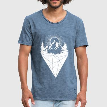 mountain sun grunge white - Men's Vintage T-Shirt