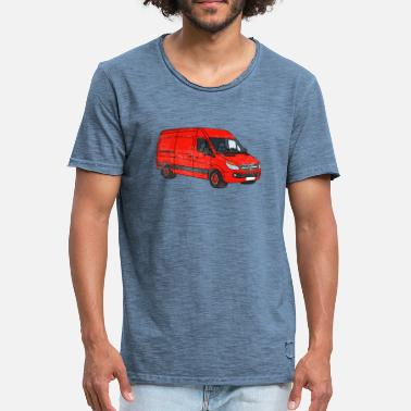 Streaker Van Art Car Graphic - Men's Vintage T-Shirt