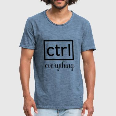 Ctrl Ctrl everything - Men's Vintage T-Shirt
