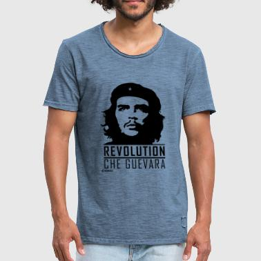 Che Guevara Inscription Révolution - T-shirt vintage Homme