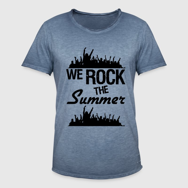 We rock the Summer  Party Festival Sommer Fun - Männer Vintage T-Shirt