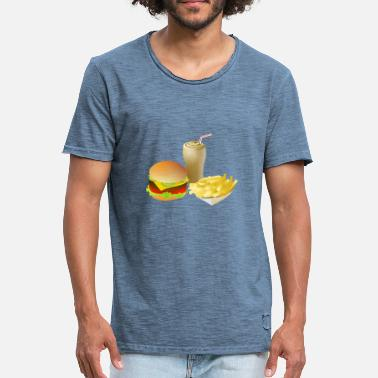 Fast Food hamburger, cheeseburger fast food fastfood26 - Mannen Vintage T-shirt