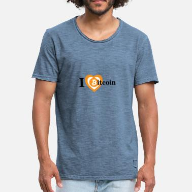 Filippa I Love Bitcoin T Shirt Design - Männer Vintage T-Shirt