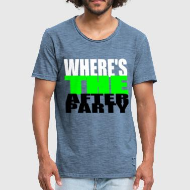 After Party - Mannen Vintage T-shirt