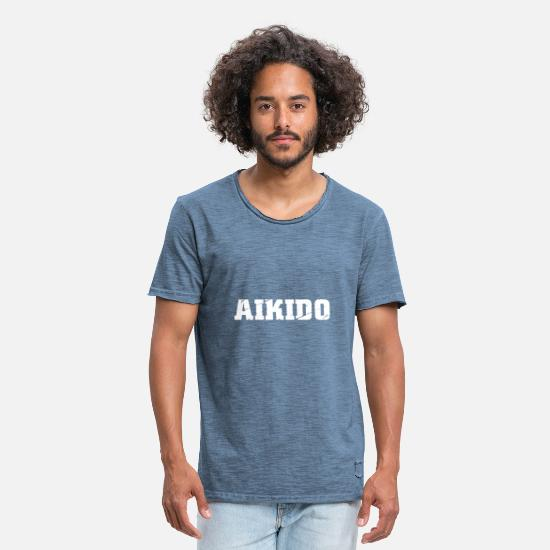 Karate T-Shirts - Aikido - Men's Vintage T-Shirt vintage denim