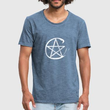 Pentacle Pentacle protection icon witches icon - Men's Vintage T-Shirt