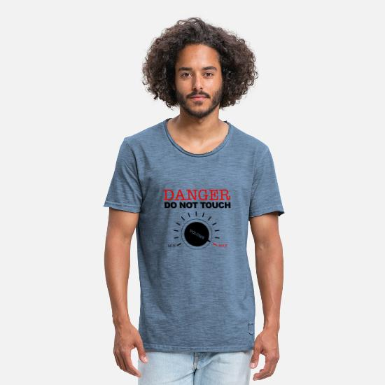 Rap T-shirts - Volume Music Selon Musician Speaker Box - T-shirt vintage Homme vintage bleu jeans