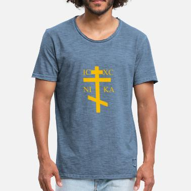 Orthodoxe Kruis orthodox - Mannen Vintage T-shirt