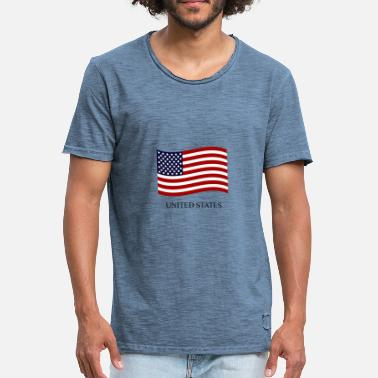 State Flag United States flag - Men's Vintage T-Shirt