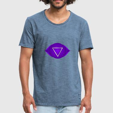 Esoteric Awareness Spiritual 6. Chakra Ajna - Men's Vintage T-Shirt
