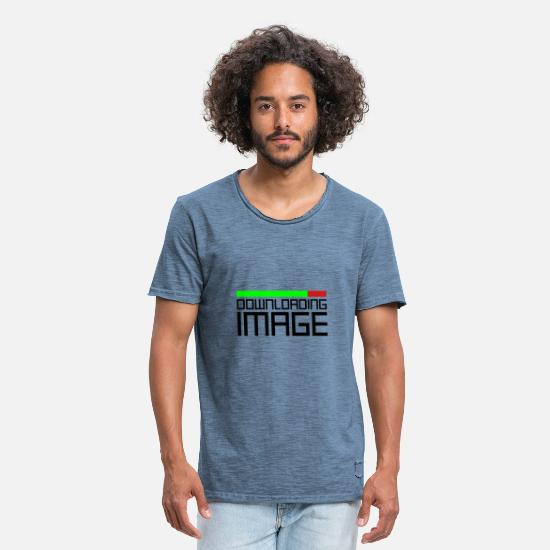 Symbol  T-Shirts - Downloading Image - Men's Vintage T-Shirt vintage denim