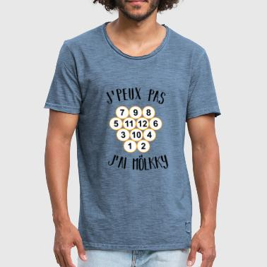 Petanque Humour I can not I have Mölkky - Men's Vintage T-Shirt