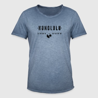 Honolulu - Vintage-T-skjorte for menn