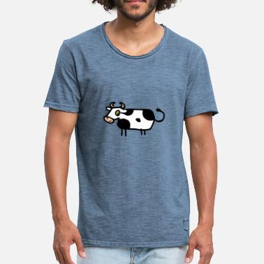Fork Muh - Cow - Men's Vintage T-Shirt