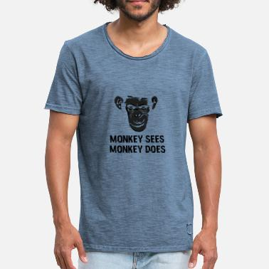 Does Monkey Lake's Monkey Does 06_black - Maglietta vintage da uomo