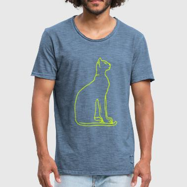 cats silhouette - Men's Vintage T-Shirt