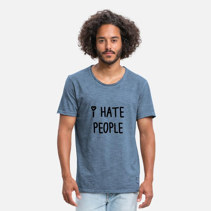 Haters Gonna Hate T-Shirts - I hate people t_shir - Men's Vintage T-Shirt vintage denim
