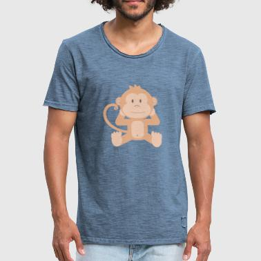 Baby aapje - Mannen Vintage T-shirt