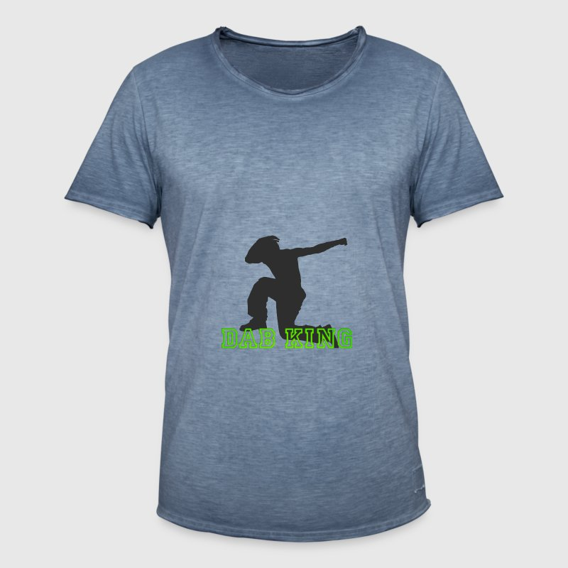 dab King dabbing Dance Football touchdown fun cool - Männer Vintage T-Shirt