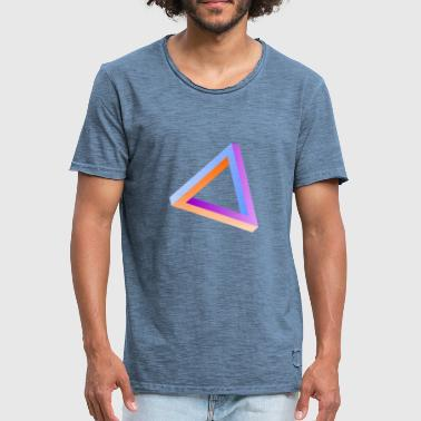 Impossible Triangle Optical Impossible triangle optical illusion - Men's Vintage T-Shirt