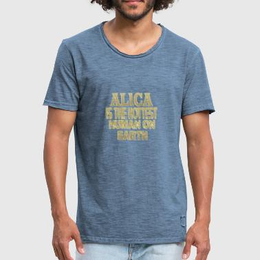 Alica - Vintage-T-skjorte for menn