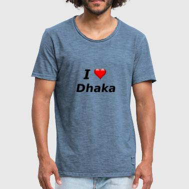 Dhaka I love Dhaka - Men's Vintage T-Shirt