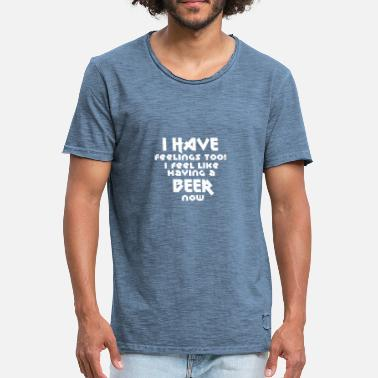 Drinking Beer Drink Drinking Alcohol Funny gift saying - Men's Vintage T-Shirt