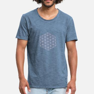 Flower of life in white without frame - Men's Vintage T-Shirt