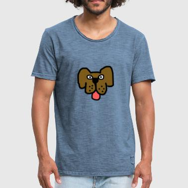 Cartoon Dog Cartoon dog - Men's Vintage T-Shirt