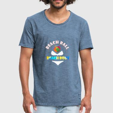 Beachball STRANDBAL - STRANDLICHAAM - Mannen Vintage T-shirt