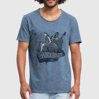 Motorista de la roca Slap That Bass (Blueprint) - Camiseta vintage hombre