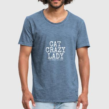 dame folle de chat - T-shirt vintage Homme