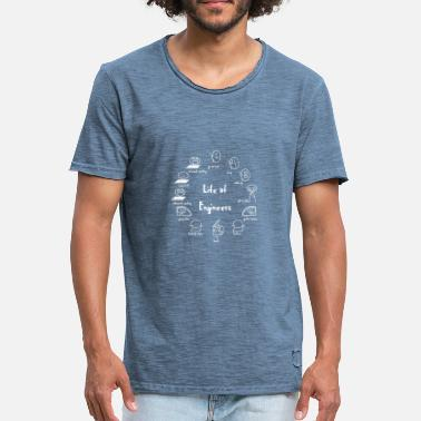 Engineering Life Engineer T-Shirt - Engineer - Life - Funny - Men's Vintage T-Shirt