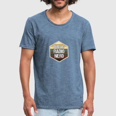 Tour Radio Radio publique radio club nerd radio amateur notes - T-shirt vintage Homme
