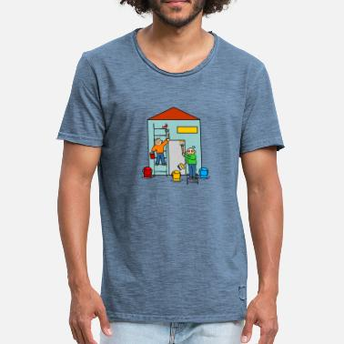 Painting Company Painters and painters paint a house - Men's Vintage T-Shirt