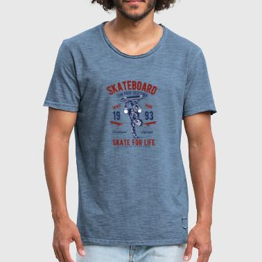 Skate For Life - Männer Vintage T-Shirt