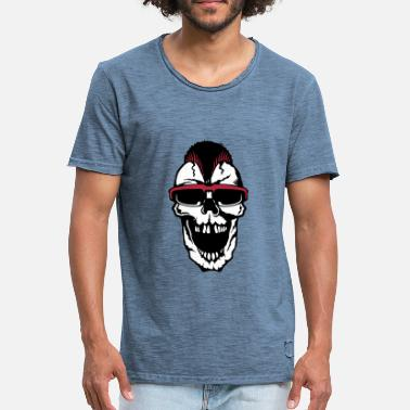 318e03d08465 Lunettes Citations tete de mort citation hipster punk lunette - T-shirt  vintage Homme